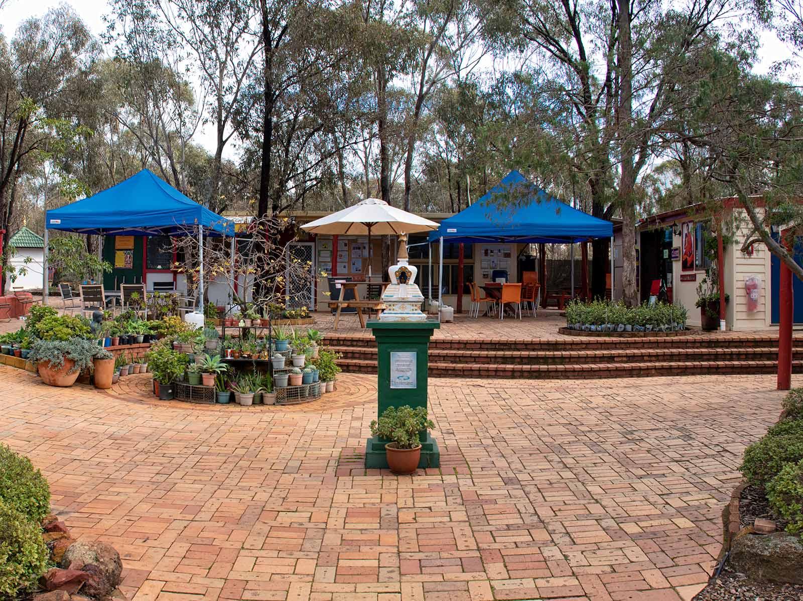 Courtyard and stupa