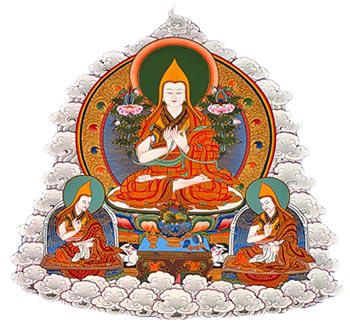 Lama Tsongkhapa and disciples
